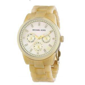 Michael Kors White Tortoise Shell Watch